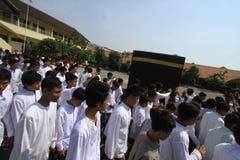Rituali del pellegrinaggio alla Mecca Immagine Stock