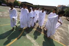 Rituali del pellegrinaggio alla Mecca Fotografia Stock