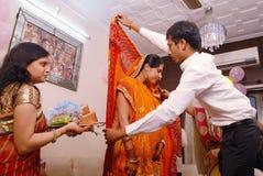 Rituali di Annaprashana Immagini Stock Libere da Diritti