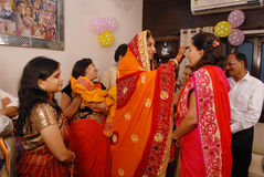 Rituali di Annaprashana Fotografia Stock