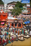 Daily rituals on Ghats of Haridwar Royalty Free Stock Image
