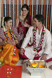 Rituals in Indian Hindu wedding Stock Photos