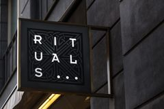 Rituals sign in cologne germany. Cologne, North Rhine-Westphalia/germany - 06 11 18: rituals sign in cologne germany stock image
