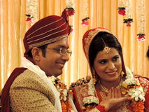 Rituals of traditional Hindu wedding, India Royalty Free Stock Images