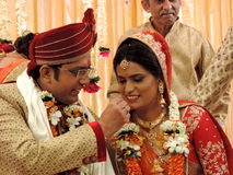 Rituals of traditional Hindu wedding, India Royalty Free Stock Photography