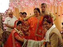 Rituals of traditional Hindu wedding, India Stock Photos