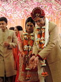 Rituals of traditional Hindu wedding, India Royalty Free Stock Photos