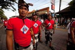 Rituel avant jour de Balinese de silence Photographie stock libre de droits