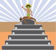 Rituel aztèque Images libres de droits