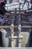 Rituel de purification au tombeau de Shinto image libre de droits