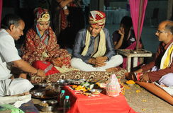 Rituel indien de mariage Images stock
