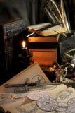 Rituel noir de magie de bougie Photographie stock libre de droits