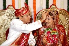 Rituel traditionnel de mariage photos libres de droits