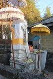 Rituele aanbiedingen in Bali Stock Foto