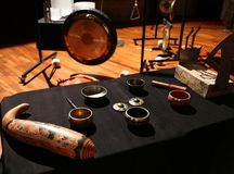 Rituele instrumenten royalty-vrije stock fotografie