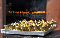 Rituele kaarsen Stock Foto