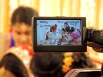 Rituelen van traditioneel Hindoes huwelijk, India Royalty-vrije Stock Afbeelding