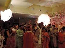Rituelen van traditioneel Hindoes huwelijk, India Royalty-vrije Stock Foto's