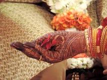 Rituelen van traditioneel Hindoes huwelijk, India Stock Fotografie