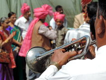 Rituelen van traditioneel Hindoes huwelijk, India Royalty-vrije Stock Afbeeldingen
