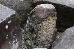 Ritueller Regen-Stein vom kambodschanischen Tempel Stockbilder