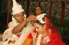 Rituels bengali de mariage en Inde Image libre de droits