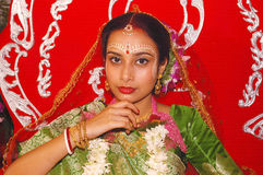Rituels bengali de mariage en Inde Photos stock