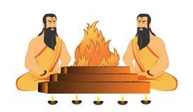 Rituels de saints illustration libre de droits