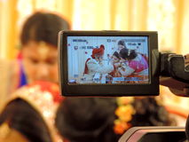Rituels du mariage indou traditionnel, Inde image libre de droits