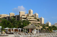 The Ritz-Carlton Grand Cayman luxury resort located on the Seven Miles Beach Stock Photo