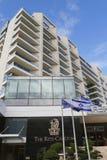 Ritz-Carlton Herzliya en el puerto deportivo de Herzliya Imágenes de archivo libres de regalías