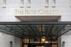 Free Ritz-carlton Hotel Sign In Berlin Germany Royalty Free Stock Images - 144680109
