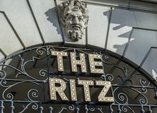 Free Ritz Hotel Sign, Piccadilly, London Stock Photography - 148868952