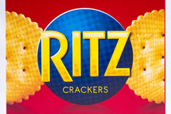 Ritz krakers logo Obrazy Stock