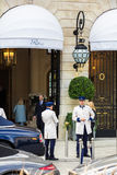 Ritz Paris hotel on Place Vendome. France Stock Images
