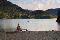 湖Ritza 库存照片