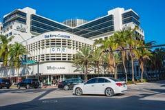 Ritzen-Carlton i Miami Beach, Florida Royaltyfri Fotografi