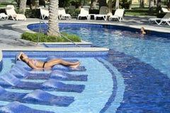 RIU Santa Fe Hotel en Cabo San Lucas, México fotografía de archivo libre de regalías