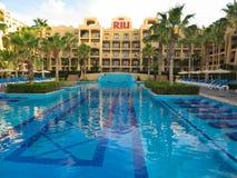 RIU Santa Fe Hotel på Cabo San Lucas, Mexico Royaltyfri Fotografi
