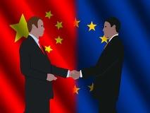 Riunione d'affari cinese dell'Ue royalty illustrazione gratis