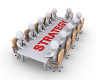 Riunione d'affari da discutere circa strategia Immagini Stock