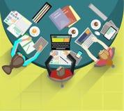Riunione d'affari e 'brainstorming' Progettazione piana Fotografia Stock