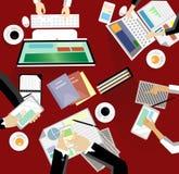 Riunione d'affari e 'brainstorming' Progettazione piana Fotografie Stock Libere da Diritti