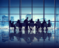 Riunione d'affari nell'ufficio di New York Immagini Stock Libere da Diritti