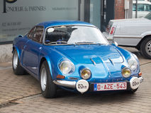 Riunione dei collettori delle automobili classiche e delle automobili del muscolo Renault alpina Immagine Stock Libera da Diritti