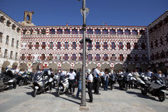 Riunione dei proprietari delle motociclette di BMW K 1600 Immagine Stock Libera da Diritti