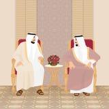 Riunione dei re arabi degli sceicchi fotografie stock