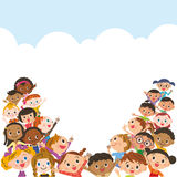 Riunione del bambino e del cielo blu royalty illustrazione gratis