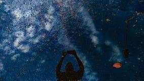 Riunione del cielo e della terra immagine stock