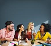 Riunione del concetto di conversazione di comunicazione di 'brainstorming' di discussione Fotografia Stock